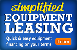 Simplified Equipment Leasing; Quick & easy equipment financing on your terms
