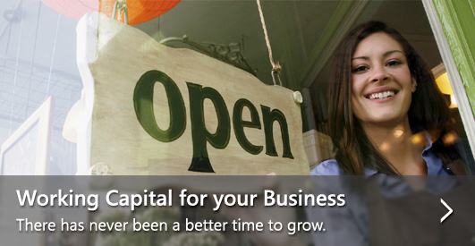 Working Capital for your Business—There has never been a better time to grow.